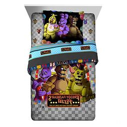 Five Nights At Freddy's Pizza Security 6-Piece Full Comforte