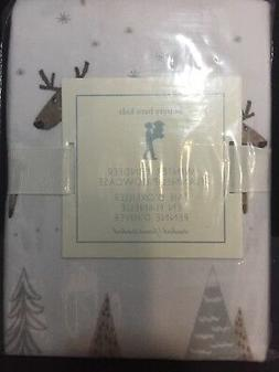 FLANNEL Pottery Barn Kids WINTER REINDEER Pillowcase For BED