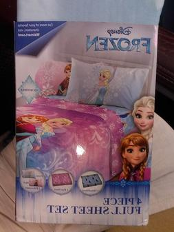 DISNEY FROZEN~FULL SIZE SHEET SET~NEW~1 FLAT/1 FITTED/2 PILL