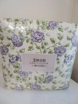 HOME REFLECTIONS FULL SIZE 4 PIECE QUILT SET NEW PURPLE FLOR