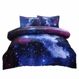 Galaxy Bedding Sets Outer Space Comforter 3D Printed Space Q