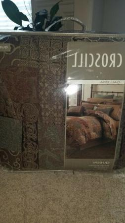 Croscill Galleria Brown Queen Comforter Set Bedding
