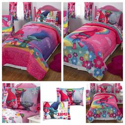 Girls Comforter Bedding DreamWorks Trolls Complete 5 Piece K