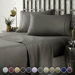 "HC Collection Bed Sheet "" Pillowcase Set HOTEL LUXURY 1800 S"