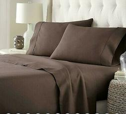 Hc Collection Bed Sheets Set,Twin, Hotel Luxury 1800 Series