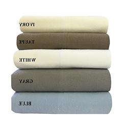 Royal's Heavy Soft 100% Cotton Flannel Sheets, 4pc Bed Sheet