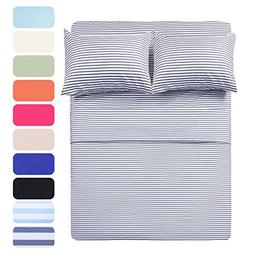 HIGHEST QUALITY 4 Piece Bed Sheet Set with 2 Pillow Cases, N