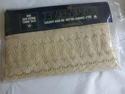 AQ Textiles Highland Collection 600 TC Ivory Queen 4 Piece S