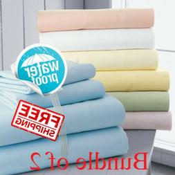 SOL Home Bundle of 2. Waterproof Bed Mattress Protector Cove
