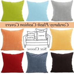 Hot Vintage Home Decor Corduroy Pillow Case Sofa Waist Throw