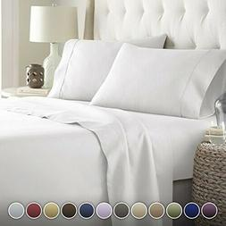 Hotel Luxury Bed Sheets Set 1800 Platinum Collection Deep Po
