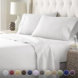 HC Collection Bed Sheets Set, HOTEL LUXURY Platinum 1800 Ser