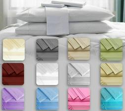 Hotel Luxury 4Pcs Bed Sheets Set Softest Bedding 1800 Collec
