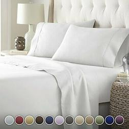 HC Collection Bed Sheets Set, HOTEL LUXURY 1800 Series Plati