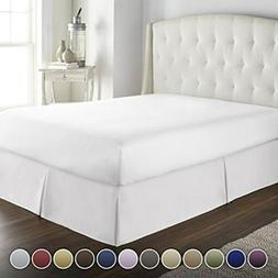HC COLLECTION Hotel Luxury Bed Skirt/Dust Ruffle 1800 Platin