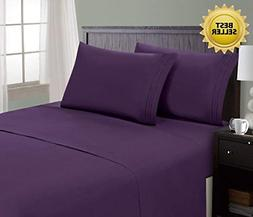 Hotel Luxury Comfort Bed Sheets 1800 Series Bedding Set Wrin
