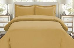 Hotel Luxury 3pc Duvet Cover Set-1500 Thread Count Egyptian
