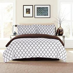 Lux Decor Collection Duvet Cover Set, 1800 Count Soft Egypti