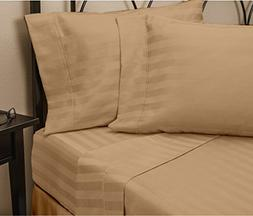 Hotel Luxury STRIPED Bed Sheets Set-SALE TODAY ONLY! #1 Rate