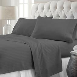 Hotel Quality Premium Striped Bed Sheet Set by Soft Bedding