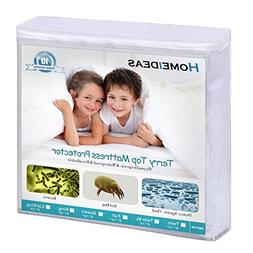 HOMEIDEAS Queen Mattress Protector 100% Waterproof, Breathab