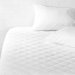 """AmazonBasics Hypoallergenic Quilted Mattress Topper, 18"""" Dee"""