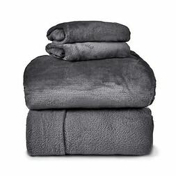 SPYDER Insulated Warm Fleece Flannel Plush Sheet Set, Pillow