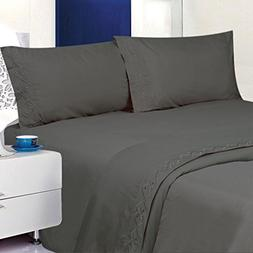 ITALIAN Deluxe 1800 Thread Count Bed Sheet Set – Embroider
