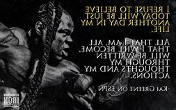 Kai Greene Fabric Cloth Rolled Wall Poster Print -- Size: