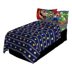 Kid Bed Sheet Set Twin Super Mario Kids Trifecta Fun Nintend