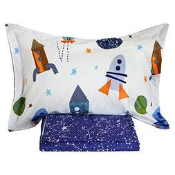 Brandream Kids Boys Bedding Space Galaxy Bed Sheet Set Toddl