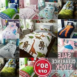 KIDS DUVET COVER SET With Pillowcases Single Bed Size Quilt