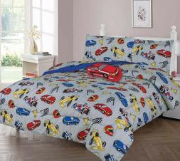 Kids/Teens Multi Race Racing Cars Bed In a Bag COMFORTER Red