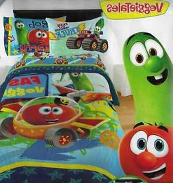 VeggieTales Kids Vegetables TWIN Bedding Comforter Sheets Cu