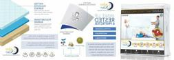 CALM NITE Queen Size Mattress Pad Protector - Waterproof & H