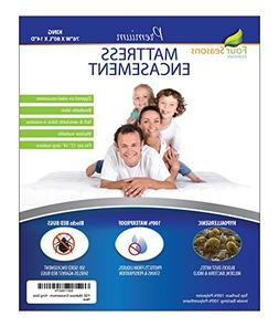 Four Seasons Essentials King Mattress Protector  Bedbug Wate