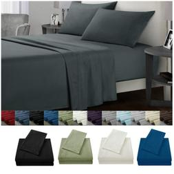 King Size Bed Sheet Set Soft Comfort Microfiber 4 Piece Deep