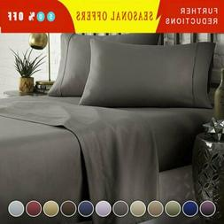 DEEP POCKET 1800 COUNT BAMBOO SERIES 4 PIECE BED SUPER SOFT