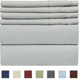 KING SIZE SUPER SOFT DEEP POCKET  PIECE SHEET SET BED SHEETS