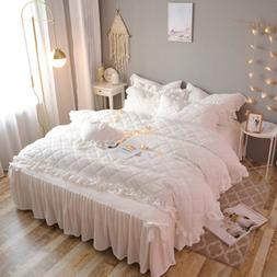 Korean-style winter thickened cotton 3/4pcs bedding crystal