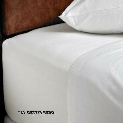 1 new king size white hotel fitted sheet cotton bay hotel 78