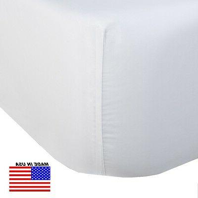 1 king size white fitted sheet 78x80x12 series T250 percale