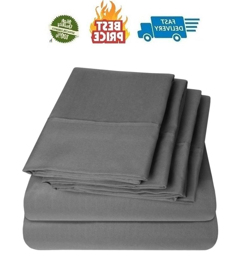 100 egyptian cotton cover bed sheet set