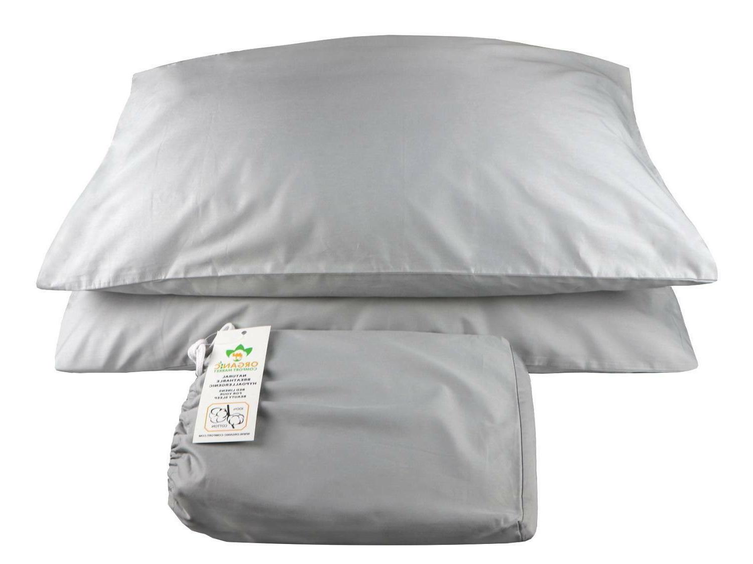 100% Cotton Sheets Bands. Silver