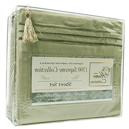 1500 Collection Extra Soft Sage - Pocket Free Twin