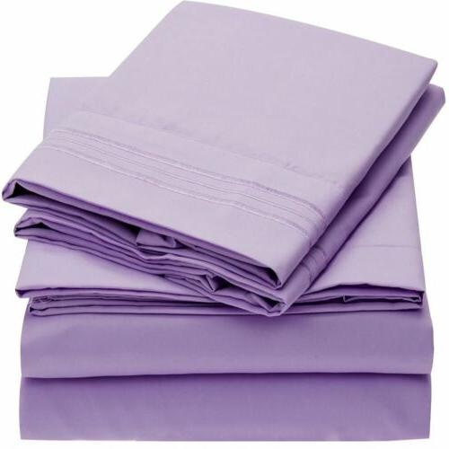Mellanni 1800 Collection Microfiber Bed Sheet Set Hypoallergenic