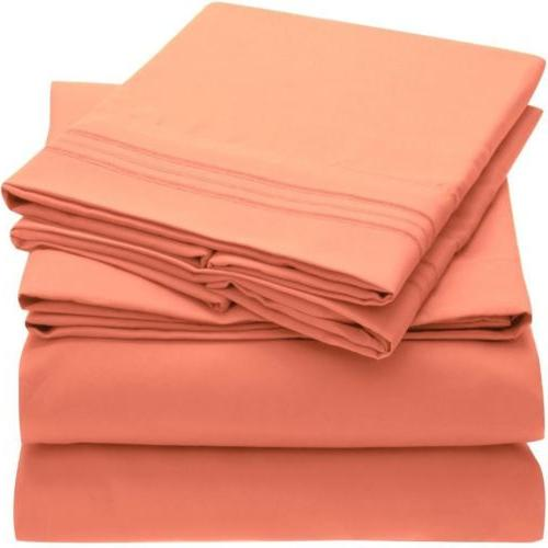 1800 collection microfiber bed sheet set hypoallergenic