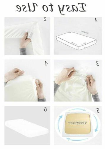 1800 Count Cotton Comfort Extra Bed Sheet Set Pocket