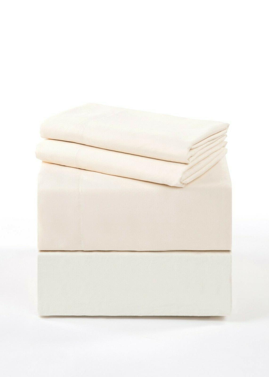 Bed Sheet Set Elegance 1800 4 Pocket Sheets