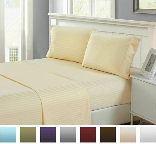 1800 Series Egyptian Striped 6 Piece Colors